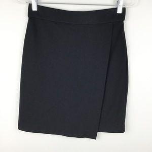 Madewell Black City Overlap Skirt l Small